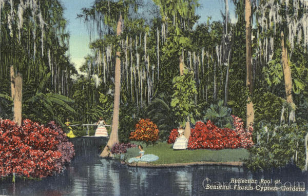 Reflection Pool, Cypress Gardens Scenic Florida