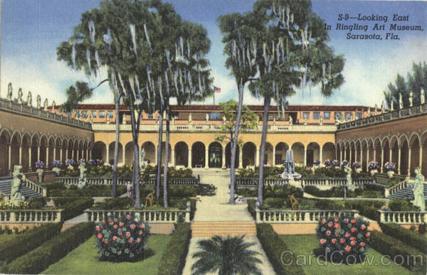Looking East In Ringling Art Museum Sarasota Florida