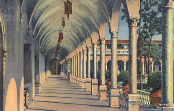 Archway Along Inner Court of Ringling Art Museum Sarasota Florida