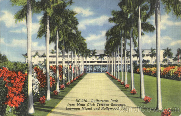 Gulfstream Park from Main Club Terrace Entrance Miami Florida