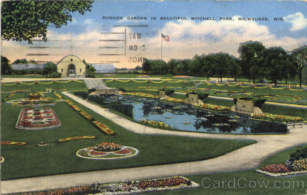 Sunken Garden In Beautiful Mtichell Park Milwaukee Wisconsin