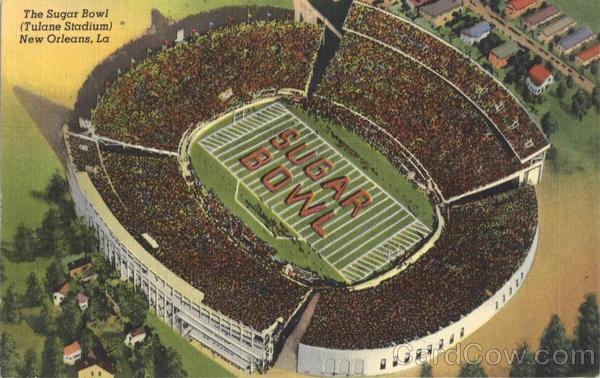 The Sugar Bowl (Tulane Stadium) New Orleans Louisiana
