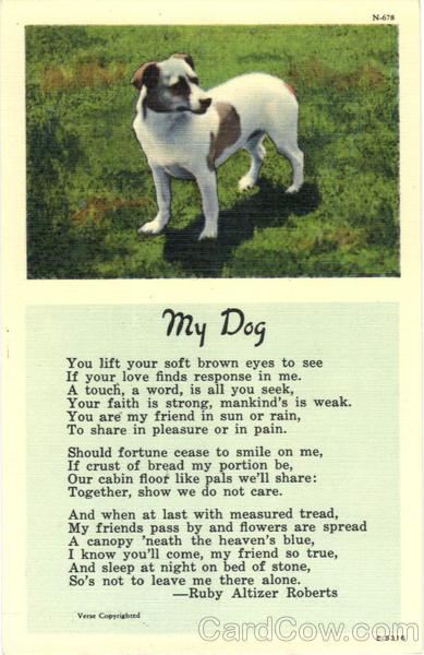My Dog Ruby Altizer Roberta Poem Dogs