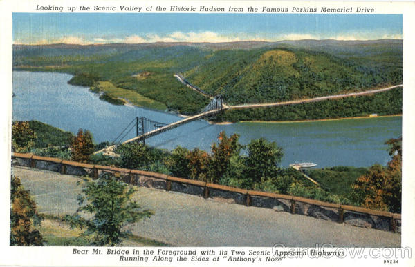 Scenic Valley of Hudson from Perkins Memorial Drive Highland Mills New York