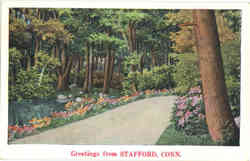 Greetings from Stafford Postcard