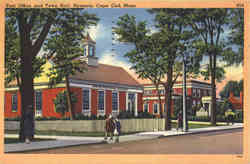 Post Office and Town Hall Postcard