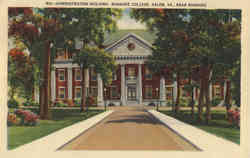 Administration Building, Roanoke College Postcard