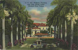 Widener Fountain and Club House Lawn Hialeah Race Course