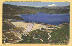 Shasta Dam and Shasta Lake, Mt. Shasta in the Distance