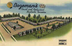 Bozeman's Court and Restaurant Postcard