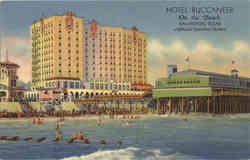 Hotel Buccaneer on the Beach Postcard