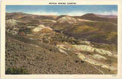 Nevada Mining Country Postcard