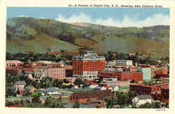 A Portion of Rapid City, showing Alex Johnson Hotel