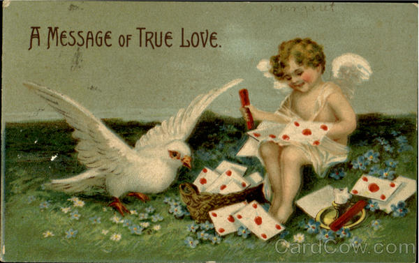 A Message Of True Love With Cupid