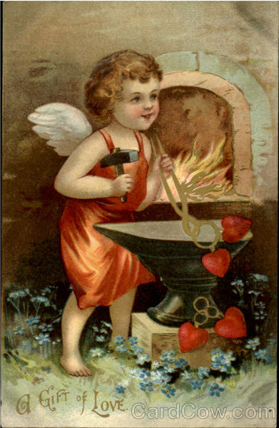 A Gift Of Love  - Cupid Blacksmith Valentines Day