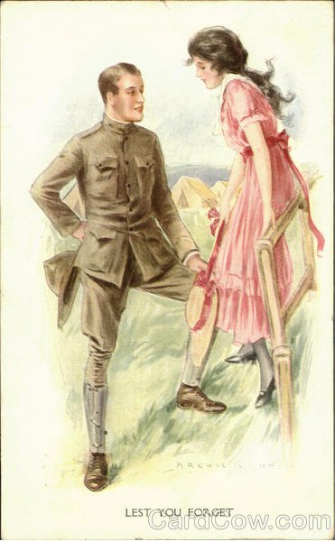 Lest You Forget Romance & Love World War I