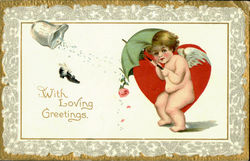 With Loving Greetings Postcard