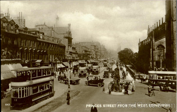 Princes Street From The West Edinburgh Scotland