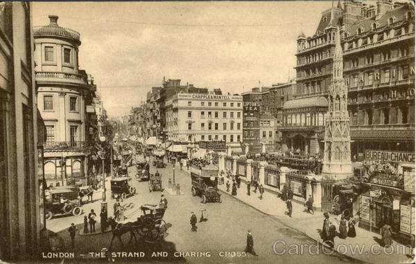 The Strand And Charing Cross London England