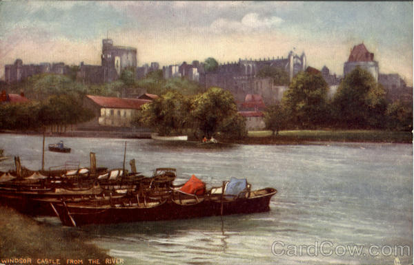Windsor Castle From The River England