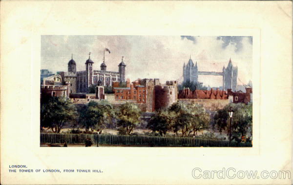 The Tower Of London From Tower Hill England