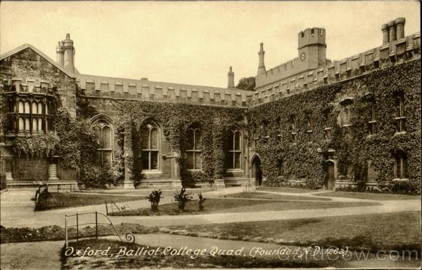 Oxford Balliol College Quad England Oxfordshire
