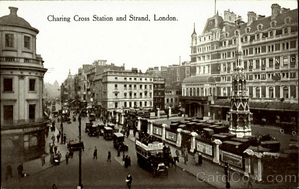 Charing Cross Station And Strand London England