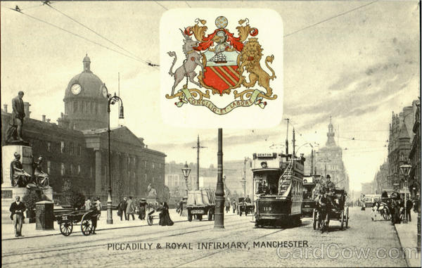 Piccadilly & Royal Infirmary Manchester England