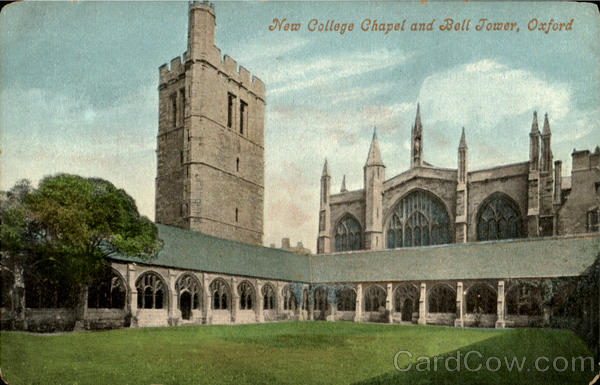 New College Chapel And Bell Jower Oxford England Oxfordshire