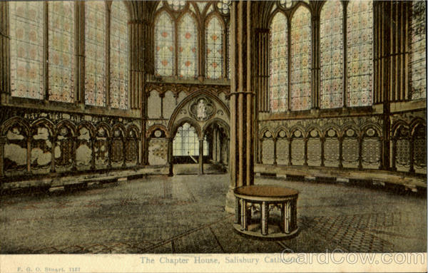The Chapter House Salisbury Cathedral England