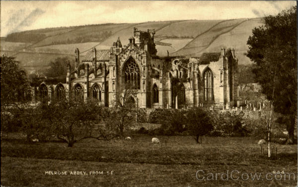 Melrose Abbey From S. E England