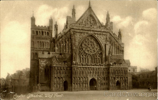 Exeter Cathedral West Front England