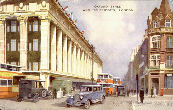 Oxford Street And Selfridge's London England