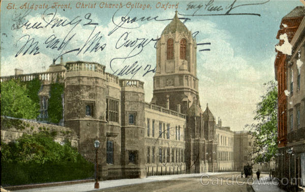 St. Aldgate Front, Christ Church College Oxford England