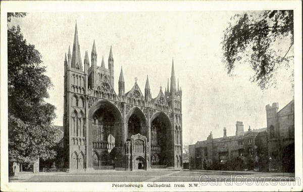 Peterborough Cathedral From N. W England