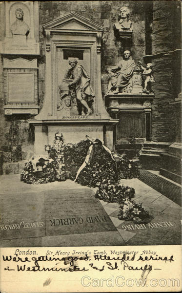 Sir Henry Trving's Tomb London England
