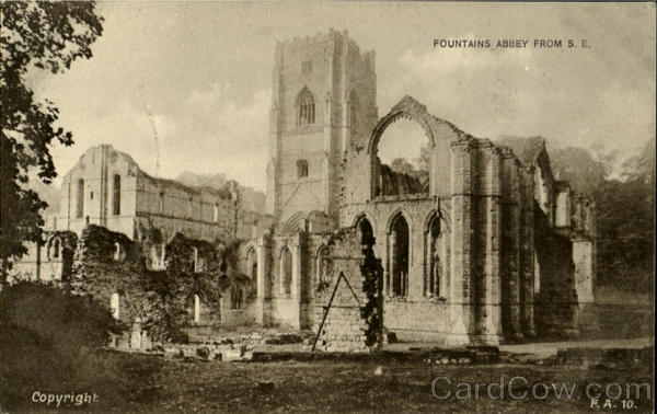 Fountains Abbey From S. E England