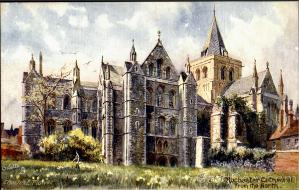 Rochester Cathedral From The North England