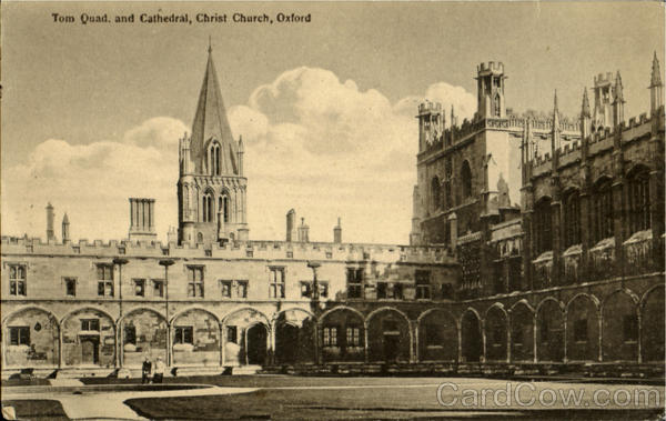 The Quad And Cathedral Christ Church Oxford England