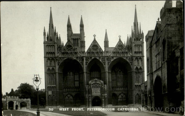 West Front Peterborough Cathedral England