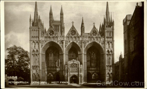 Peterborough Cathedral West Front England