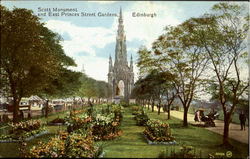 Scott Monument And East Princes Street Gardens