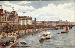 The Thames Embankment Postcard