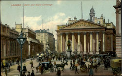 Bank And Royal Exchange Postcard