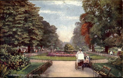 The Broad Walk, Regents Park Postcard