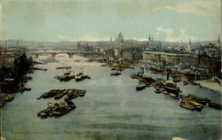 River Thames From Tower Bridge Postcard