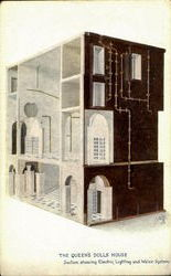 The Queen's Dolls House Postcard