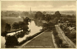 Stratford On Avon From Memorial Theatre Postcard