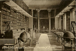 The Library, Oriel College Postcard