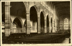 The Cathedral Nave & Children's Chapel Postcard